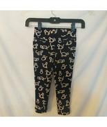 Crewcuts Sz. 5 Pants Black with Cats - $8.60