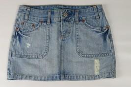 AMERICAN EAGLE distressed denim jean skirt Size 0 - $9.89