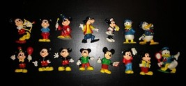 Lot of 15  PVC Mickey Mouse WALT DISNEY Figurines 1980 - $16.79