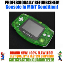 *NEW GLASS SCREEN* Nintendo Game Boy Advance GBA Clear Green System MINT... - $44.50