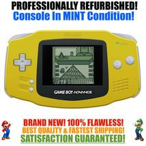 *NEW GLASS SCREEN* Nintendo Game Boy Advance GBA Yellow System MINT NEW - $55.87