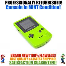 *NEW GLASS SCREEN* Nintendo Game Boy Color GBC Kiwi Green System MINT NEW - $65.41