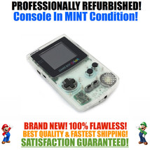 *NEW GLASS SCREEN* Nintendo Game Boy Color GBC Custom Clear System MINT NEW - $49.45