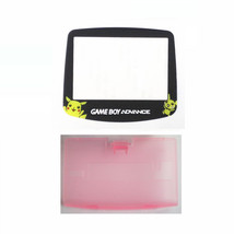New PINK Game Boy Advance Battery Cover + Pokemon Pikachu Screen Lens GBA - $6.88