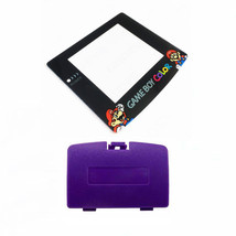 New GRAPE PURPLE Game Boy Color Battery Cover + Mario & Luigi Screen GBC - $9.35