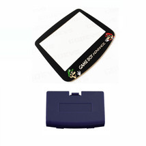 New INDIGO Game Boy Advance Battery Cover + Mario & Luigi Screen Lens GBA - $9.35