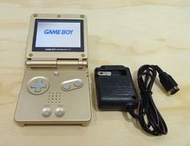 Nintendo Game Boy Advance GBA SP Gold System AGS 101 Brighter MINT NEW - $108.85