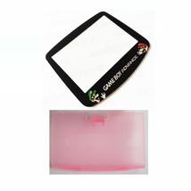 New PINK Game Boy Advance Battery Cover + Mario & Luigi Screen Lens GBA - $6.88