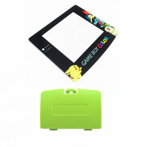 New KIWI GREEN Game Boy Color Battery Cover + Pokemon Chikorita Screen GBC - $9.35