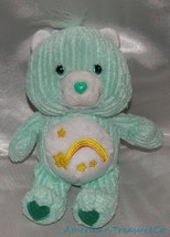 "RARE 2003 Care Bears Plush 8"" Mint Green Corduroy Wish Bear w/Stars Bell... - $19.33"
