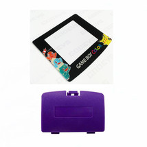New GRAPE PURPLE Game Boy Color Battery Cover + Pokemon Squirtle Screen GBC - $9.35