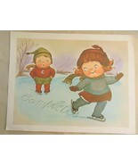 Campbell's Soup Kids Print  8 x 10 Figure Skating - $14.00