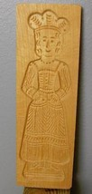 "Hand Carved Wood Woman Mold 12 x 4"" - $34.40"