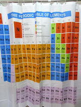 Periodic Table Of Elements Colorful Design 180 X 180 Cm Polyester Shower Curtain - $23.99
