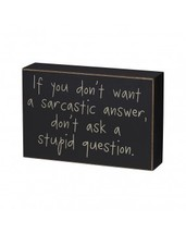 Primitive Wood Box Sign- Stupid Question Box Sign  - €8,15 EUR