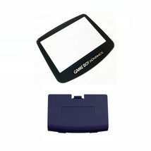 New INDIGO Game Boy Advance Battery Cover + New Screen Lens GBA Replacem... - $5.54