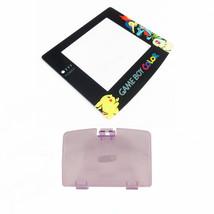 New ATOMIC PURPLE Game Boy Color Battery Cover + Pokemon Chikorita Scree... - $7.22