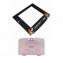 New ATOMIC PURPLE Game Boy Color Battery Cover + Mario & Luigi Screen GBC - $9.35