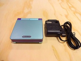 Nintendo Game Boy Advance GBA SP System AGS 001 Blue + Purple MINT NEW - $88.78