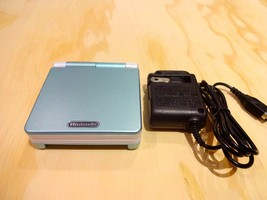 Nintendo Game Boy Advance GBA SP System AGS 001 Blue + White MINT NEW - $69.25