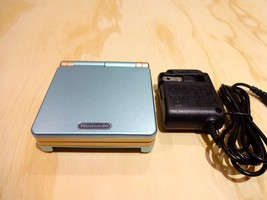 Nintendo Game Boy Advance GBA SP System AGS 101 Brighter Blue + Gold MIN... - $108.85