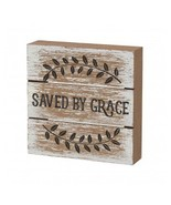 Primitive Wood Box Sign- Ps-4912 - Saved by Grace  - $9.95