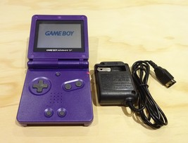 Nintendo Game Boy Advance GBA SP Purple System MINT NEW W/ CHARGER! - $88.32