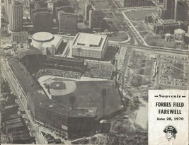 ORIGINAL Vintage 1970 Pittsburgh Pirates Forbes Field Farewell Poster Bo... - $23.19