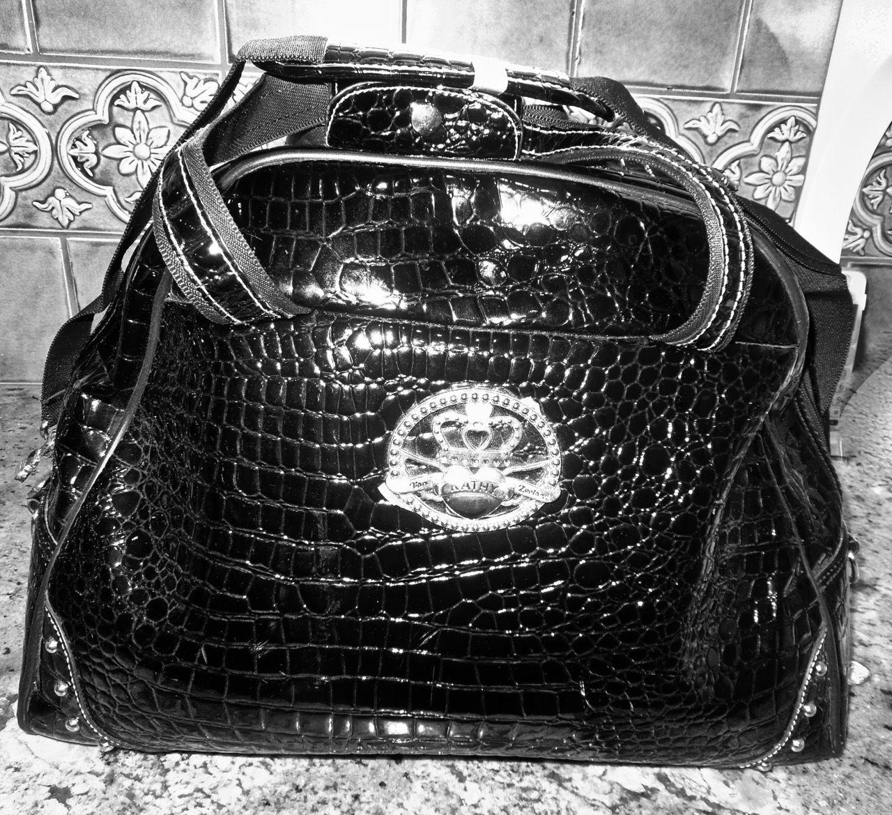 f43e69e675 Kathy Van Zeeland Black Faux Croc Patent and 22 similar items. 57