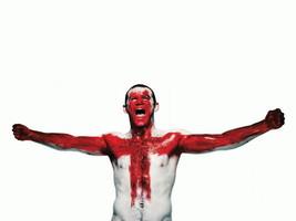 BORN IN ENGLAND Wayne Rooney Soccer 32x24 Print... - $13.95