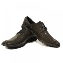 Dark Green Elegant Men's Shoes - 44 EU - Handmade Colorful Italian Leather Ox... - $149.00