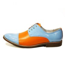 Modello Alberto - 43 EU - Handmade Colorful Italian Leather Oxfords Unique La... - $149.00