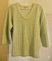 Women's Christopher & Banks Mint Sweater Size M Medium - V-Neck - Beauti... - $12.82