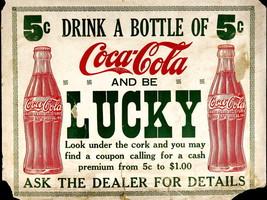 Coca-Cola Lucky Retro Commercial Vintage Ads Ar... - $13.95