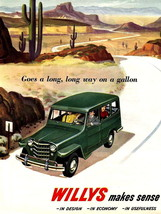 Jeep Willys Vintage Commercial Retro Ad Art 32x... - $13.95