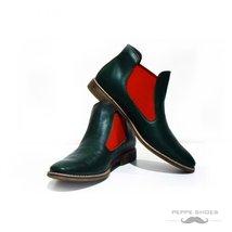Modello Garda - 43 EU - Handmade Colorful Italian Leather Unique Ankle Boots ... - $149.00