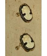 Vintage Cameo Screwback Earrings - $14.00