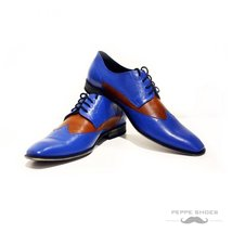 Modello Napoli - 44 EU - Handmade Colorful Italian Leather Oxfords Unique Lac... - $149.00