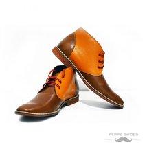 Modello Moderno - 42 EU - Handmade Colorful Italian Leather Unique High Boots... - $149.00