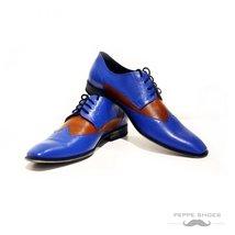Modello Napoli - 45 EU - Handmade Colorful Italian Leather Oxfords Unique Lac... - $149.00