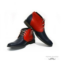 Modello Bari - 45 EU - Handmade Colorful Italian Leather Unique High Boots La... - $149.00