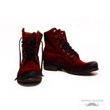Modello Gilardo - 40 EU - Handmade Colorful Italian Leather Unique High Boots... - $149.00