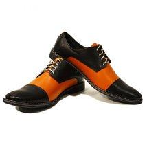 Modello Abaco - 40 EU - Handmade Colorful Italian Leather Oxfords Unique Lace... - $149.00