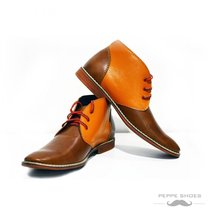 Modello Moderno - 43 EU - Handmade Colorful Italian Leather Unique High Boots... - $149.00