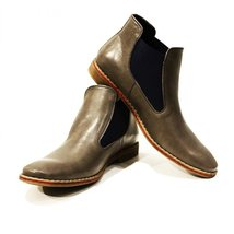 Modello Basilio - 42 EU - Handmade Colorful Italian Leather Unique Ankle Boot... - $149.00