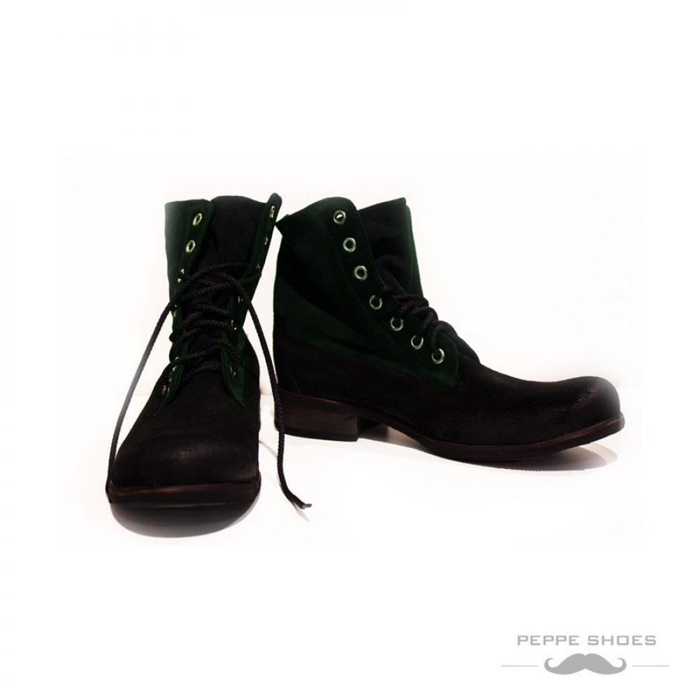 Primary image for Modello Cessina - 45 EU - Handmade Colorful Italian Leather Unique High Boots...