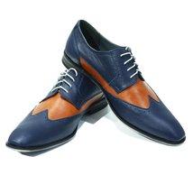 Modello Paceco - 42 EU - Handmade Colorful Italian Leather Oxfords Unique Lac... - $149.00