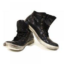 Black & Green Snake Casual Sneakers - 42 EU - Handmade Colorful Italian Leath... - $149.00