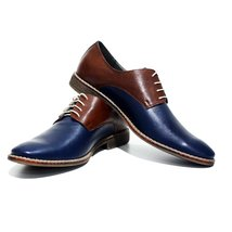 Modello Monreale - 44 EU - Handmade Colorful Italian Leather Oxfords Unique L... - $149.00