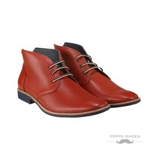 Modello Lecce - 41 EU - Handmade Colorful Italian Leather Unique High Bo... - $149.00